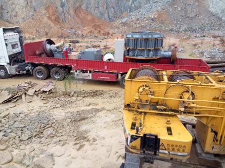 太阳城游戏鄂破、圆锥破用于福建时产500吨花岗岩破碎生产线