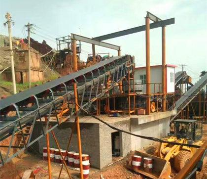 太阳城游戏承建河南某时产500吨砂岩破碎生产线