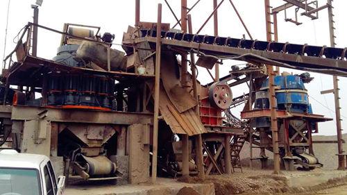 太阳城游戏圆锥破助力四川南充180吨(120方)每小时鹅卵石制砂碎石生