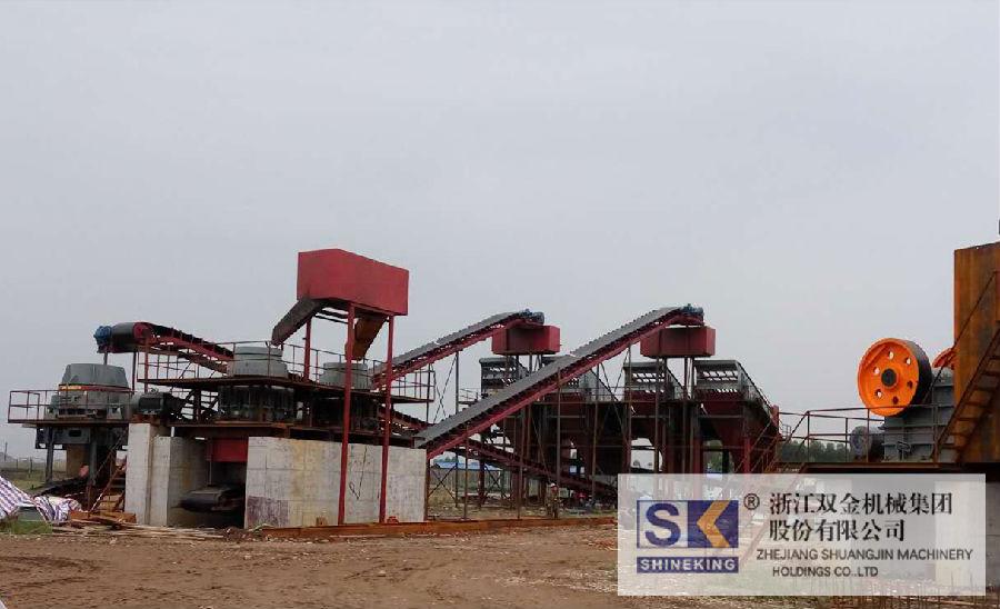 (太阳城游戏客户)四川乐山夹江月产12-15万吨(300吨/时)鹅卵石破碎生产线即将开业
