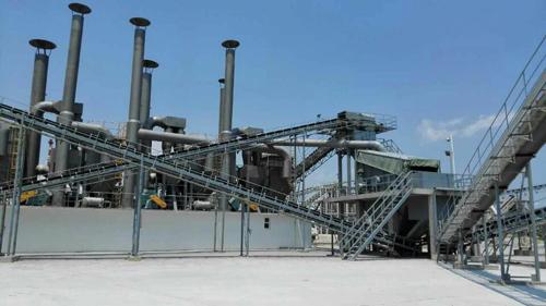 山东核电时产150吨破碎生产线