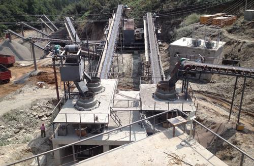 安徽金寨时产600吨破碎生产线