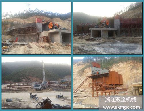 广西博白县时产500吨大型采石场
