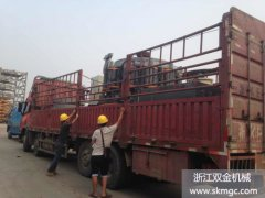 两台SJ1400圆锥破碎机发往浙江省