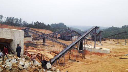 湖南新联时产500吨破碎生产线 -太阳城游戏_2019年最新白菜免费彩金项目生产现场图片