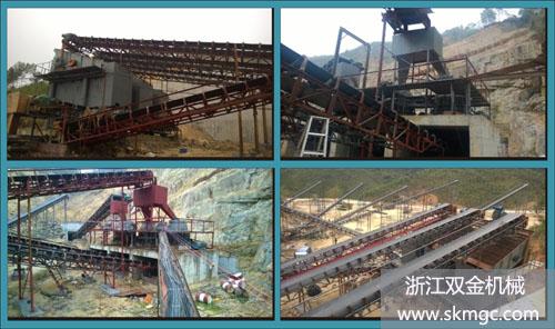 广西博白县时产500吨大型采石场项目完工图片