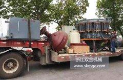 一台SJ1650圆锥式破碎机发往浙江省