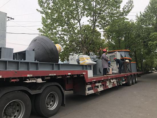 sk1800中细碎型单缸液压整机发往外贸服务