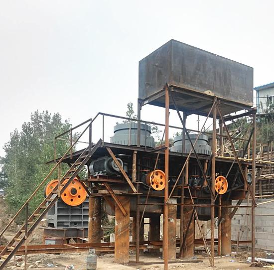 时产300吨河卵石生产线